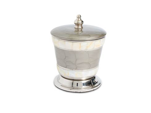 "$60.00 Classic 5.5"" Covered Canister Platinum"