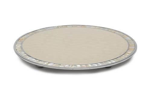 "$225.00 15"" Round Cheese Tray Snow"