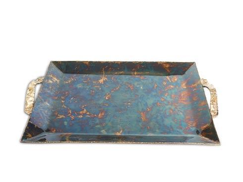 "$275.00 Sierra 20"" Rectangular Tray Rainbow Bronze"