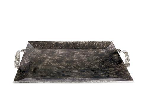 """$275.00 Sierra 20"""" Rectangular Tray w/Handles Graphite"""
