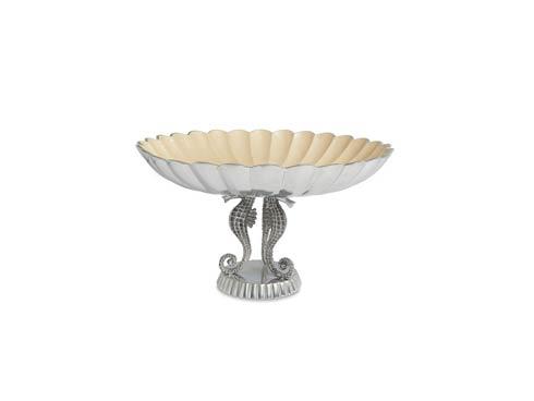 "$245.00 Sea Horse 14"" Pedestal Bowl Snow"