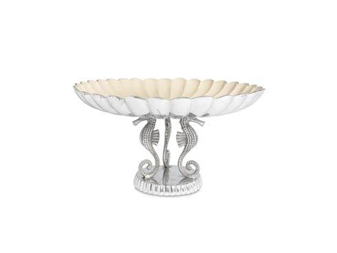"$550.00 Sea Horse 20"" Pedestal Bowl Snow"