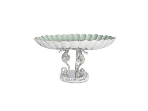 "$550.00 Sea Horse 20"" Pedestal Bowl Hydrangea"