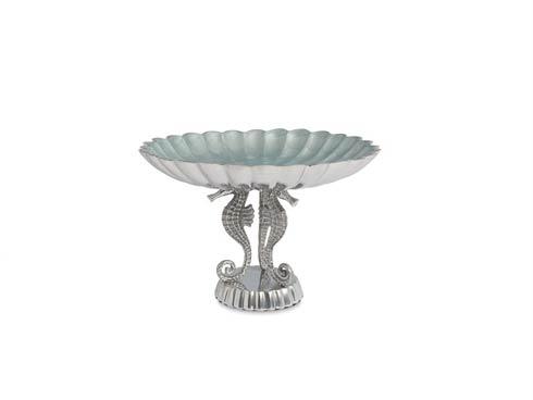"$135.00 Sea Horse 10"" Pedestal Bowl Hydrangea"