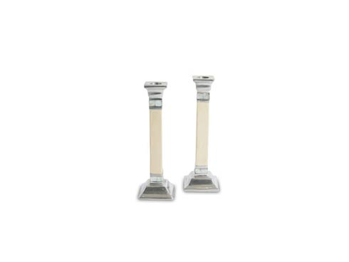 """$160.00 Classic 9.5"""" Candlestick Set of 2 Snow"""