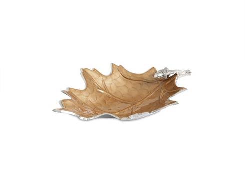 """$165.00 Oak Leaf 15"""" Bowl Toffee"""