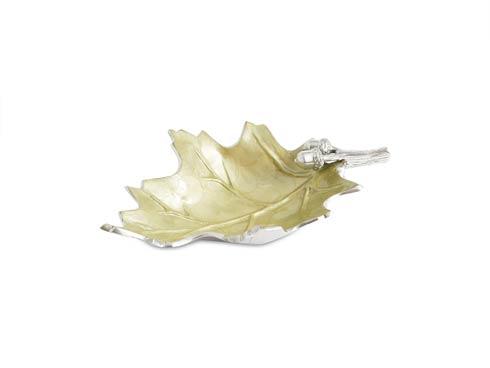 "$135.00 Oak Leaf 13"" Bowl Kiwi"