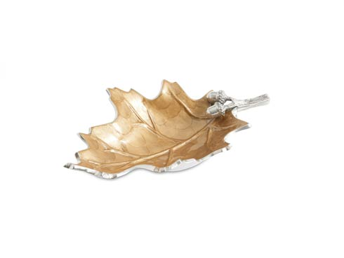 """$135.00 Oak Leaf 13"""" Bowl Toffee"""