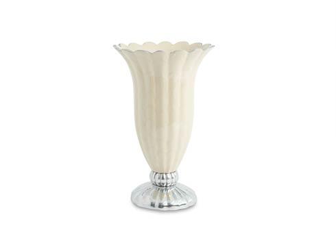 "$235.00 Peony Pure Color 12"" Vase Snow"