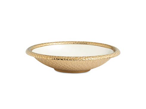 "$239.00 Florentine 15"" Oval Bowl Gold Snow"