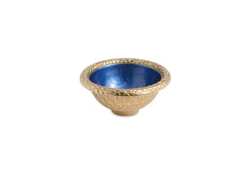 """$48.00 Florentine 4.25"""" Round Bowl Gold Sapphire"""