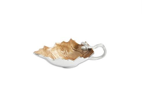 $85.00 Oak Leaf Sauce Boat Toffee