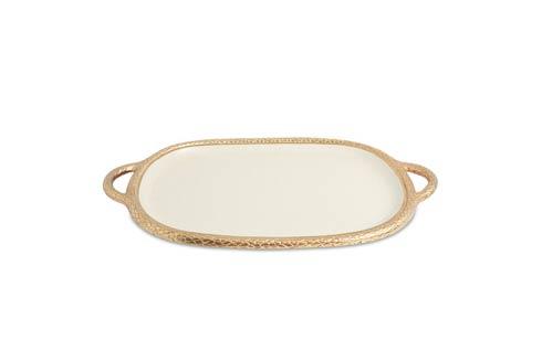 "$299.00 Florentine 22.5"" Handled Tray Gold Snow"