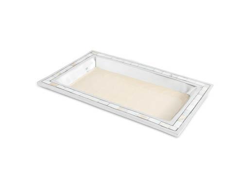 """$125.00 Classic 12"""" Vanity Tray Snow"""