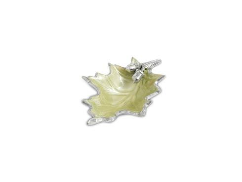 "$40.00 Oak Leaf 6"" Petite Bowl Kiwi"