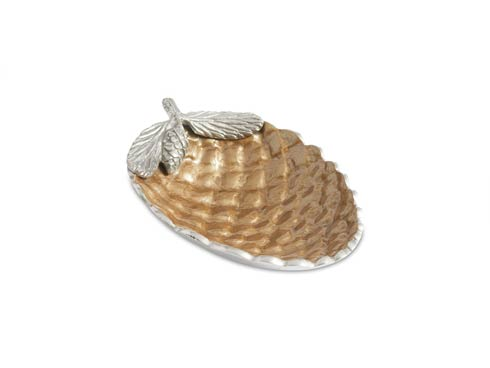 """$99.00 Pine Cone 11"""" Bowl Toffee"""