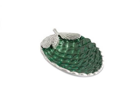 """$99.00 Pine Cone 11"""" Bowl Emerald"""