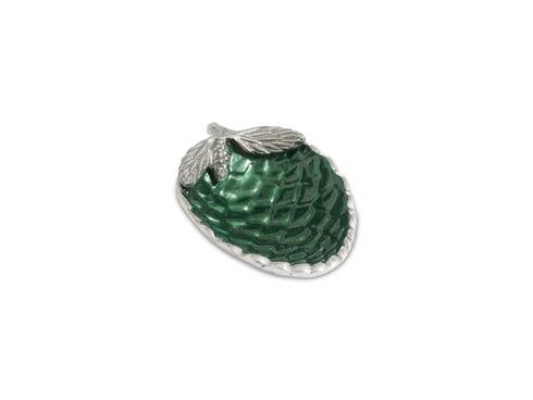 """$40.00 Pine Cone 5.75"""" Bowl Emerald"""