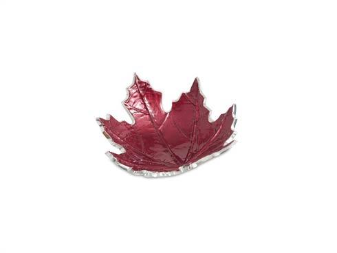 "$45.00 Maple Leaf 6"" Petite Bowl Pomegranate"