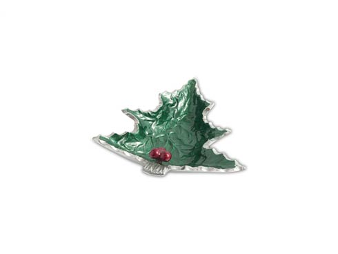 "$40.00 Holly Sprig 6.25"" Petite Tree Bowl Emerald...."