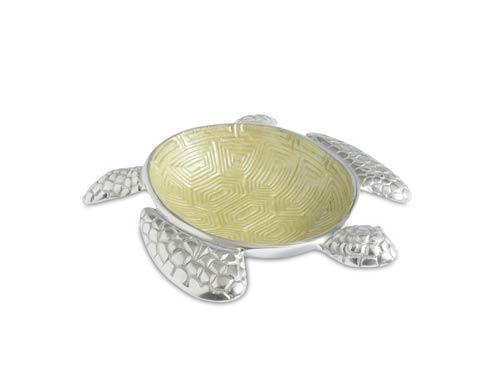 "$95.00 Sea Turtle 10"" Bowl Kiwi"