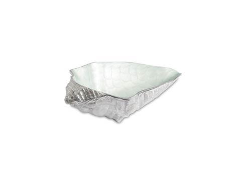 "$199.00 Conch Shell 13.5"" Bowl Hydrangea"
