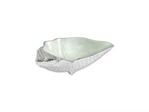 "$85.00 Conch Shell 8.25"" Bowl Hydrangea"