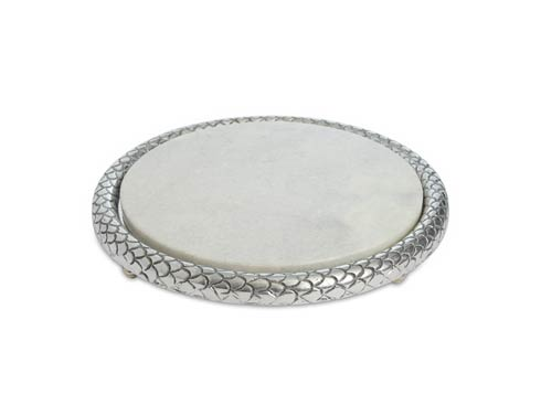 """$89.00 Florentine 11"""" Marble Cheese Tray"""
