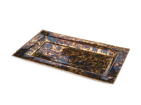 """$125.00 Cascade 12"""" Vanity Tray Rainbow Bronze"""