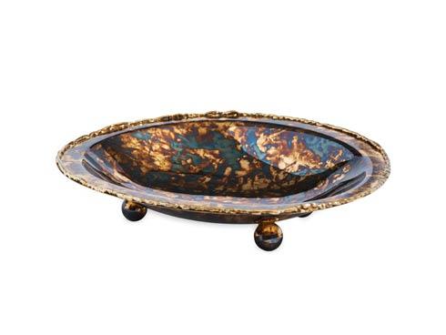 "$55.00 Cascade 6"" Soap Dish Rainbow Bronze"