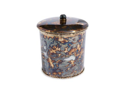 "$60.00 Cascade 5.5"" Covered Canister Rainbow Bronze"