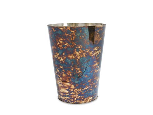"$135.00 Cascade 11"" Waste Basket Rainbow Bronze"