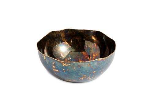 "$125.00 Cascade 10"" Bowl Rainbow Bronze"