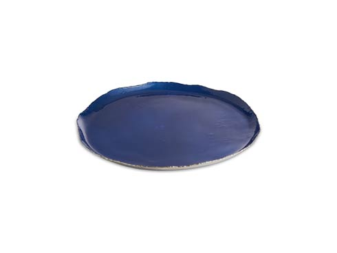"""$135.00 Cascade 13"""" Round Tray Cobalt"""