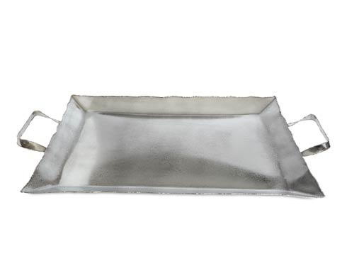 "Julia Knight  Cascade Cascade 20"" Tray with Handles Frosted $250.00"