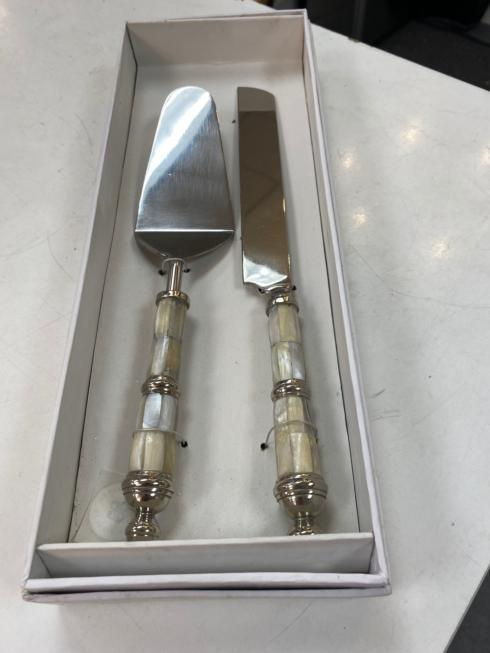 Jeffrey Bannon Exclusives   Mother of Pearl Cake Servers $68.00
