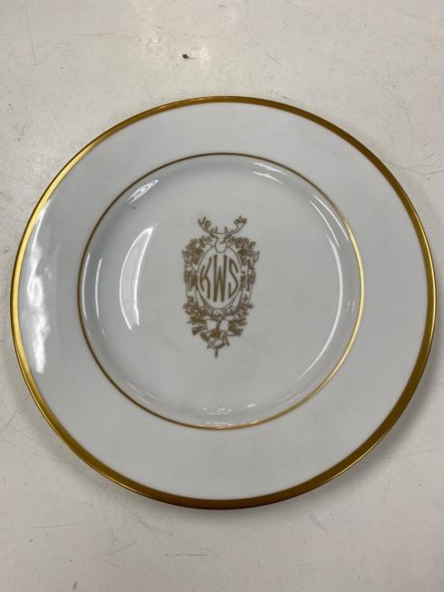Jeffrey Bannon Exclusives   Pickard Stag Monogram Plate $110.00