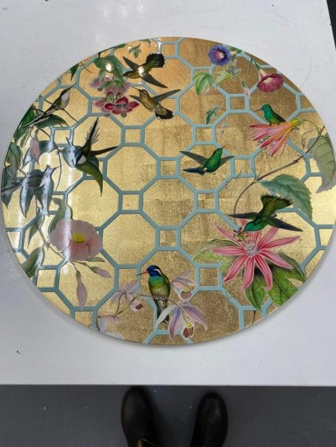 Jeffrey Bannon Exclusives   Lacquer Hummingbird Trellis Placemat $42.00