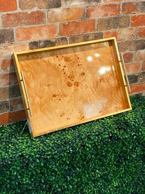 $149.00 Burled Wood Tray