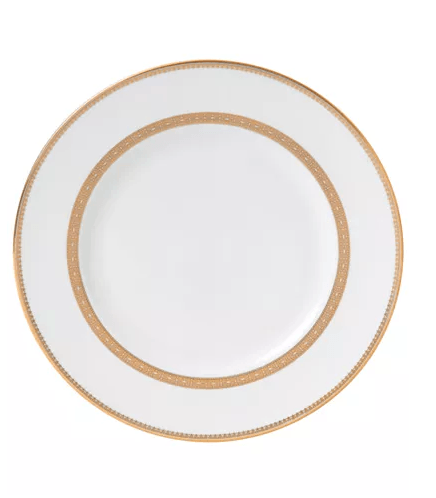 Vera Wang   Vera Wang Gold Lace Dinner Plate $49.00