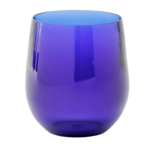 Jeffrey Bannon Exclusives   Blue Acrylic Wine Glass $17.50