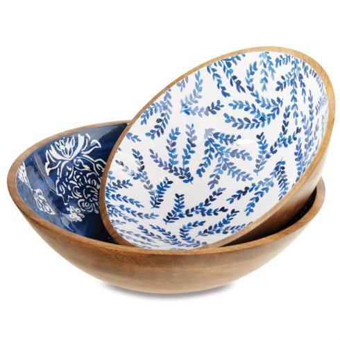 Jeffrey Bannon Exclusives   Capri wooden salad bowl $59.00