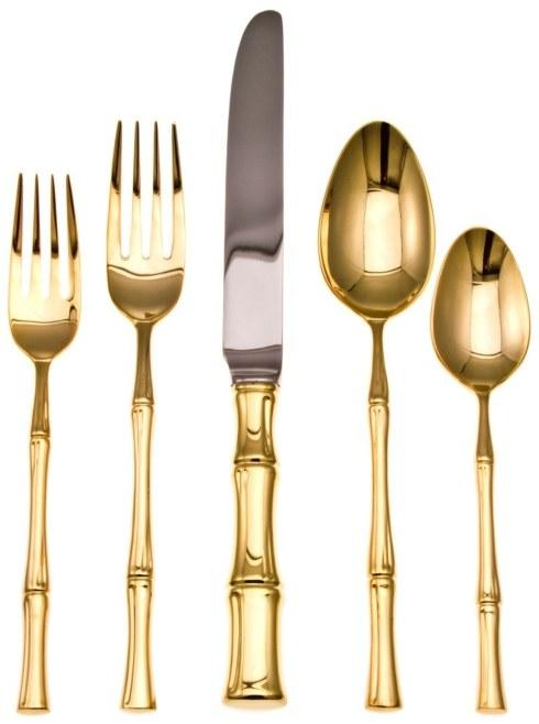 $85.00 Bamboo Gold flatware