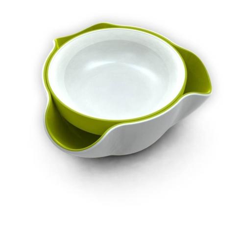$20.00 Double Dish (White / Green)