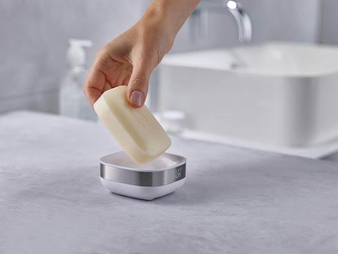 $10.00 Slim Steel Soap Dish - White