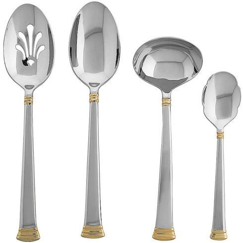 Lenox  Eternal Gold Stainless 4 Pc. Hostess Set $70.00