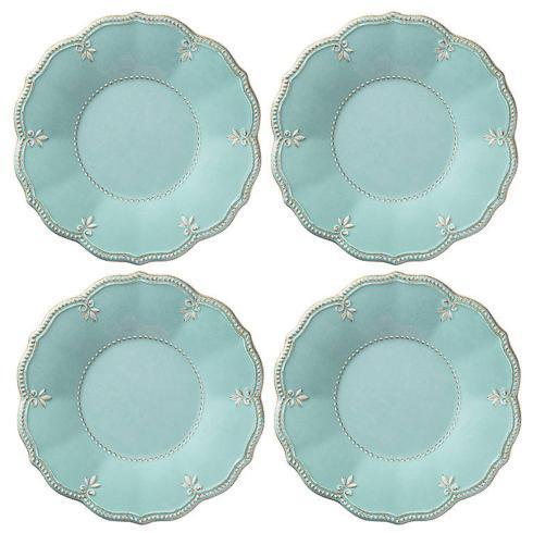 $40.00 Melamine Aqua Accent Plates Set of 4