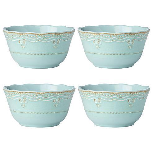 $50.00 Melamine Aqua All Purpose Bowls Set of 4