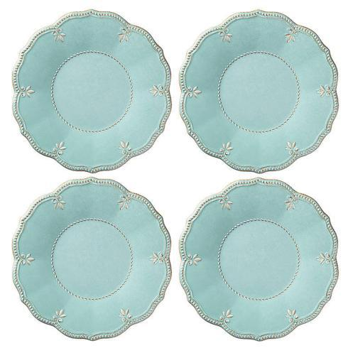 $46.40 Melamine Aqua Dinner Plates