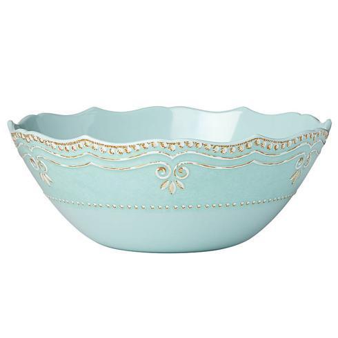 $43.00 Melamine Aqua Serving Bowl